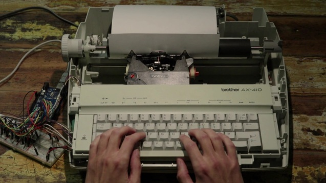 haunted typewriter